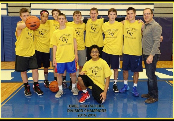 The gold team is crowned division champions in our GVBL High School League