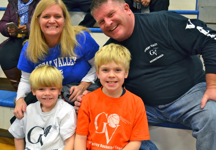 A GVBL family enjoying youth night at Great Valley High School